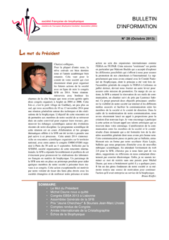 Bulletin 28 - octobre 2013